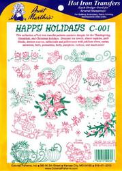 Aunt Martha's #C001 Happy Holidays
