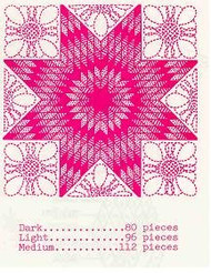 Aunt Martha's Lone Star Pre-Cut Quilt Kit - Shades of Pink