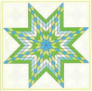 Aunt Martha's Lone Star Pre-Cut Quilt Kit - Radiant Spring