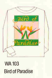 Birds of Paradise Iron-on Transfer Pattern