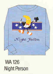 Night Person Iron-on Transfer Pattern