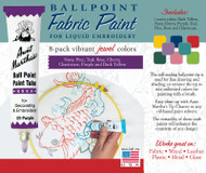 Aunt Martha's Ballpoint Paint 8-pack (Jewel)