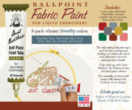 Aunt Martha's Ballpoint Paint 8-pack (Country)