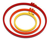"7"" Plastic Embroidery Hoop (Orange)"