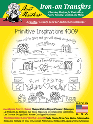 Aunt Martha's Embroidery Transfer Pattern #4009 Primitive Inspirations