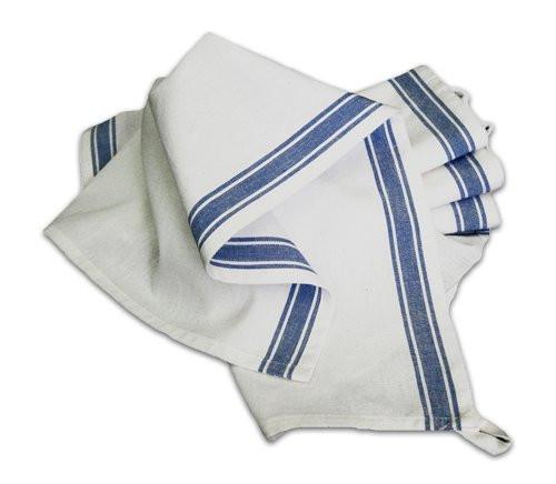 Aunt Martha's Stitch 'Em Up Retro Blue Stripe Towels Set of 12