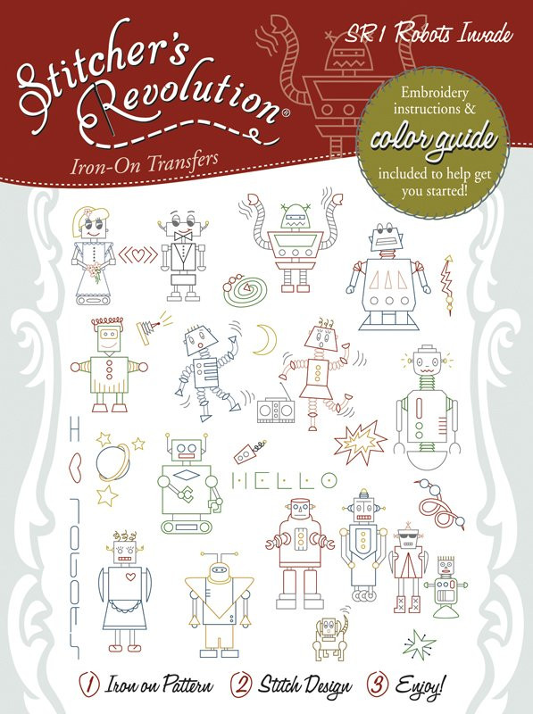 SR60 Stitcher's Revolution Robots Invade Colonial Patterns Inc Cool Colonial Patterns