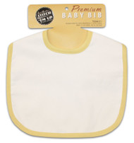 Baby Bib - Light Yellow
