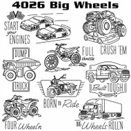 Aunt Martha's #4026 Big Wheels