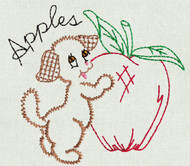 Aunt Martha's #3994 Fruit 'N Veggie Pup (Machine Embroidery File)