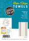 Aunt Martha's Stitch 'Em Up Retro Bold Twill Gray Stripe Towels Retail 3-pack
