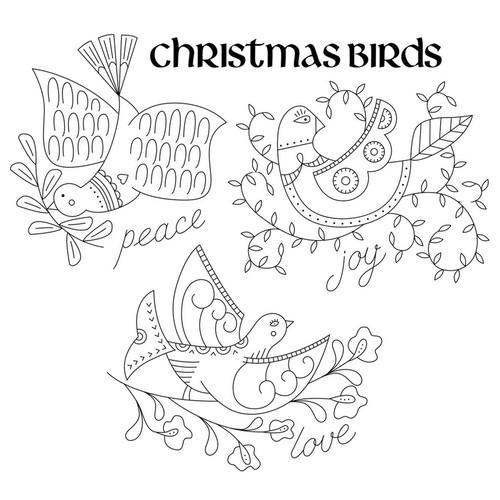 Aunt Martha's Special Edition - Christmas Holiday Peace, Love, & Joy Birds