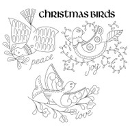 Aunt Martha's Special Edition - Christmas Holiday Peace, Love, & Joy Birds