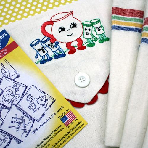Aunt Martha's Vintage Multi Stripe Towel & Sack Gift Set