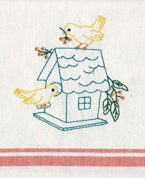 Aunt Martha's Birdhouse Kitchen Towels Gift Set