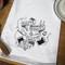 Aunt Martha's Dirty Laundry Silkscreen Flour Sack Dishtowel - Baste Makes Waste
