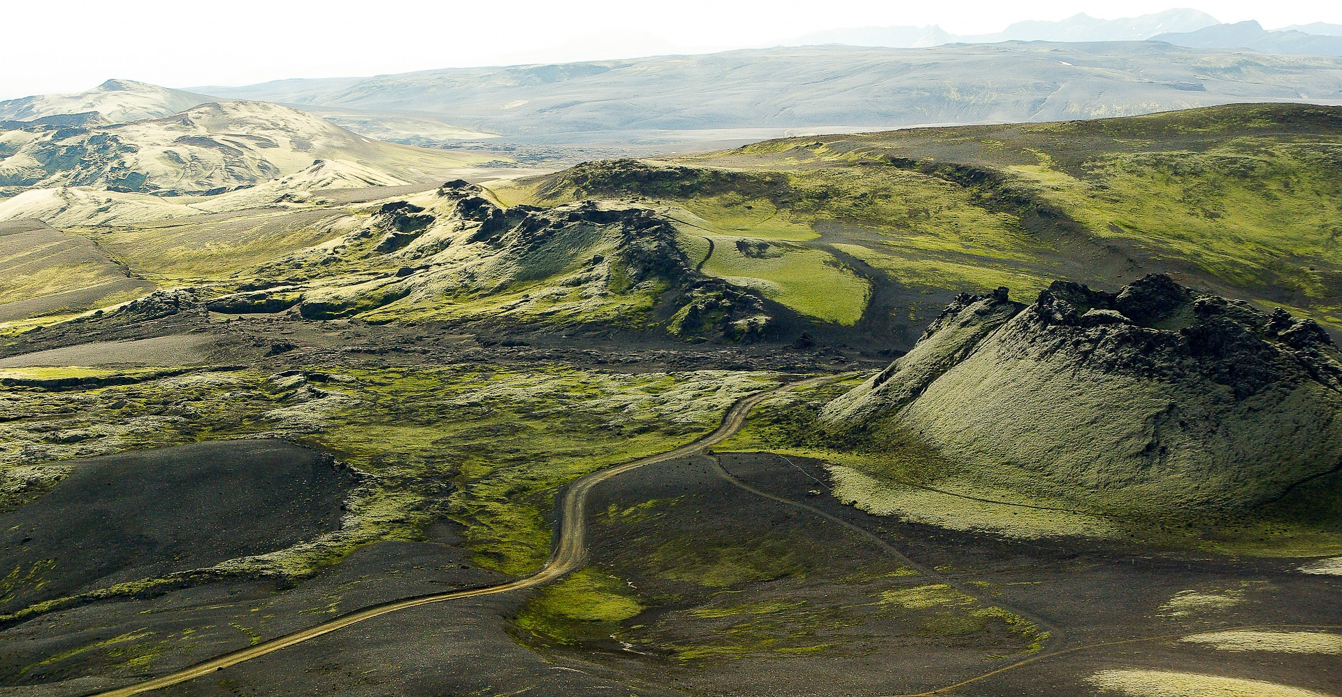 iceland, volcano, volcanoes, aerial photography