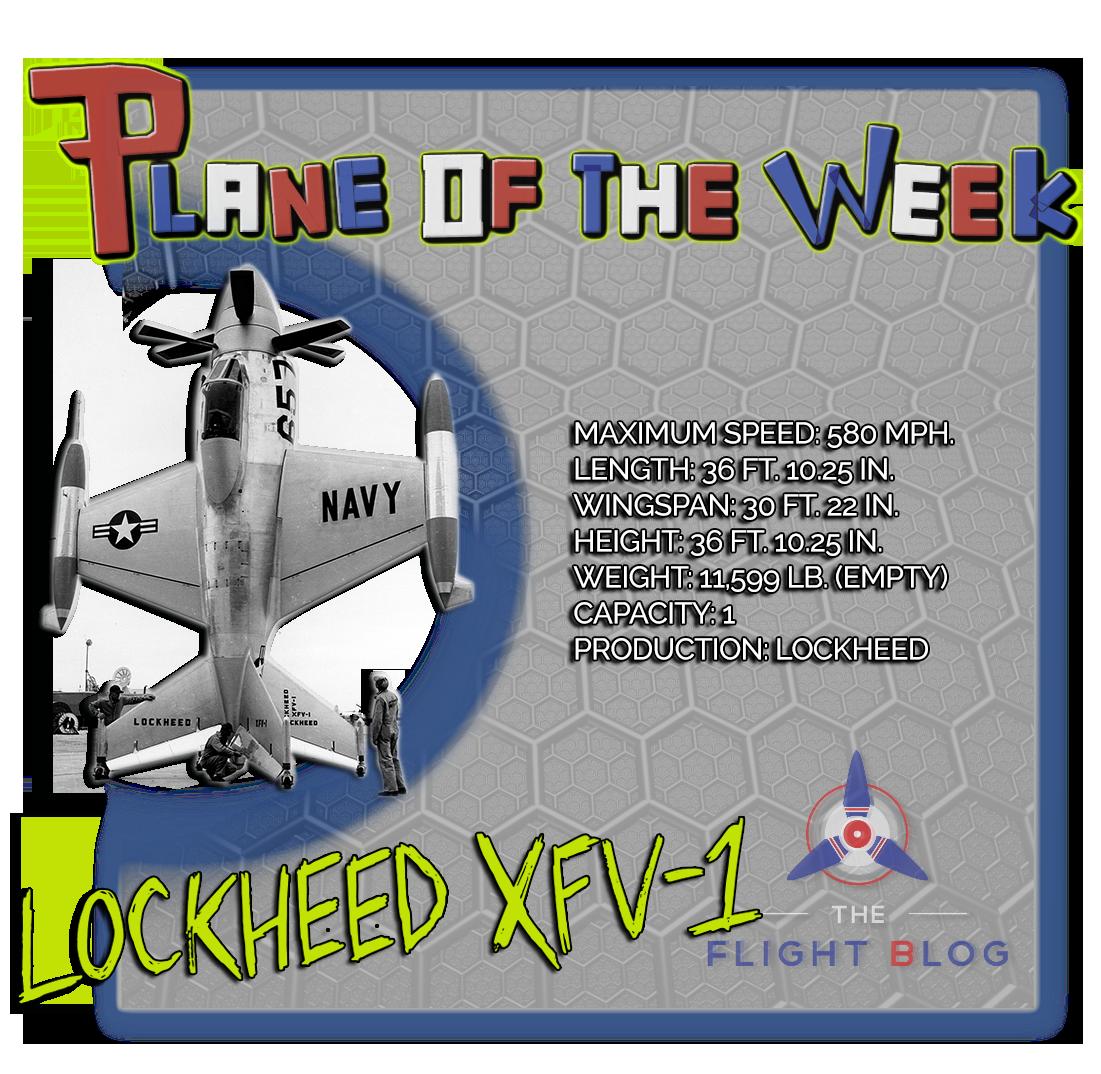 plane of the week, the flight blog, lockheed XFV-1, XFV, salmon, plane specs