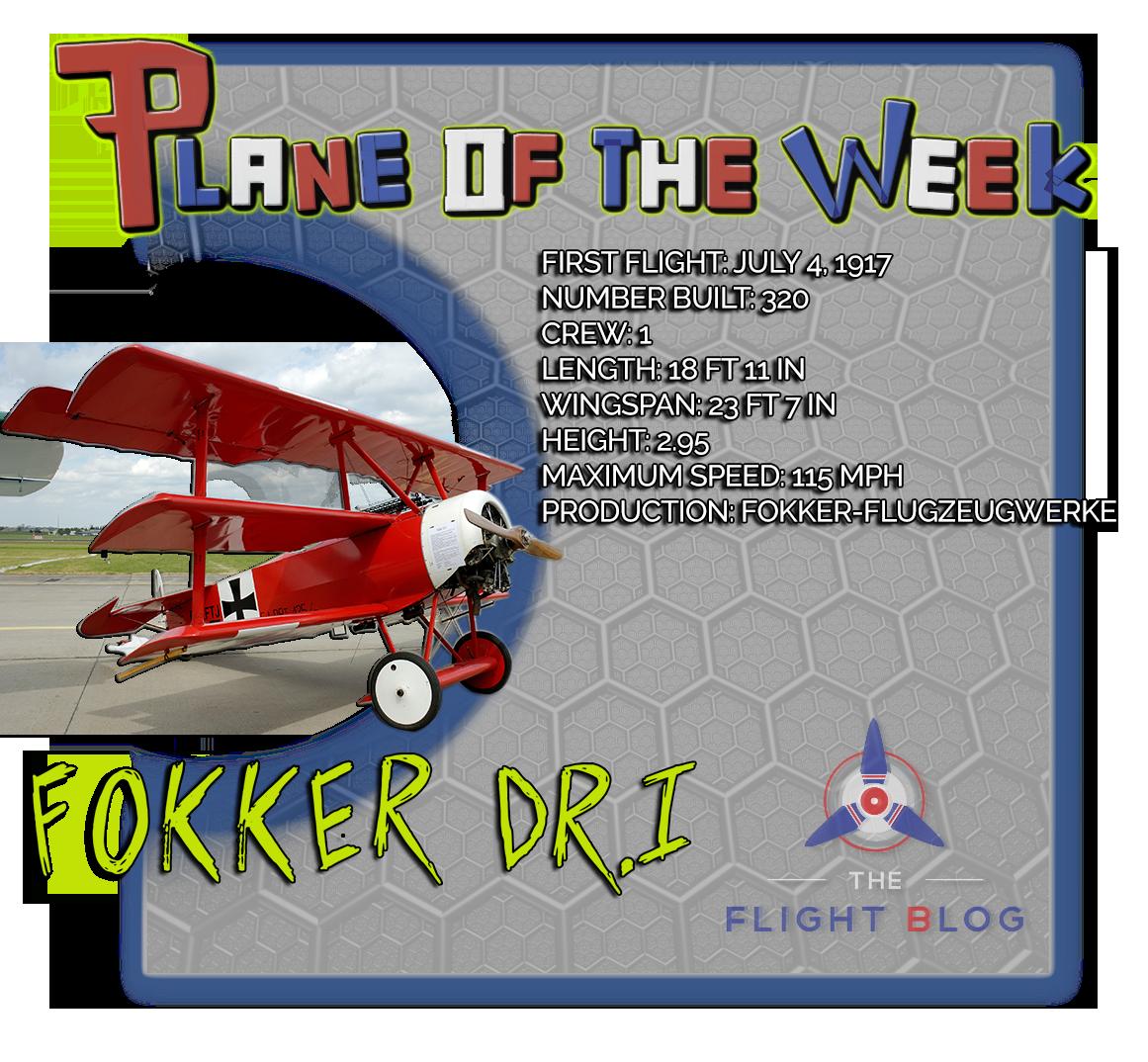 Fokker, red baron, red baron plane, red barron plane specs, Fokker DR.I