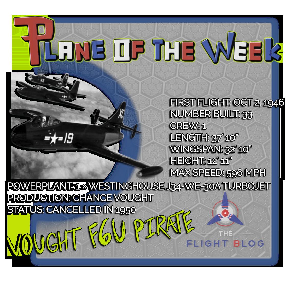 vought f6u, plane of the week, F6U pirate