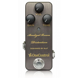One Control Anodized Brown Distortion Pedal