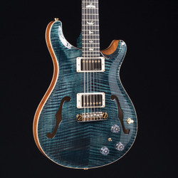 PRS HollowBody II Piezo Flame Maple Neck Wood Library 10 Top Slate Blue 1376