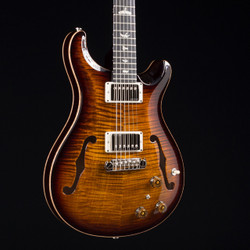 PRS Hollowbody II Piezo 10 Top Black Gold Burst 3194