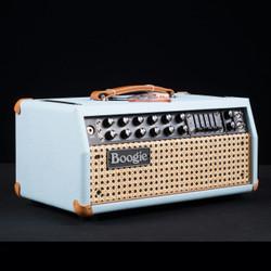Mesa/Boogie Mark V 35 Head Custom Baby Blue Wicker Front 2439