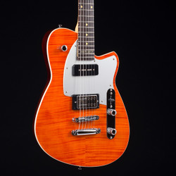 Reverend Double Agent OG 20th Anniversary Rock Orange Flame Maple 8097