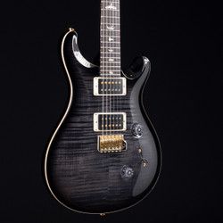 PRS Custom 24 10 Top Gray Black Smokeburst 7062