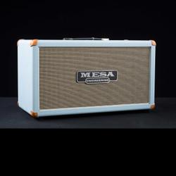Mesa/Boogie 2x12 Compact Rectifier Cabinet Custom Baby Blue Bronco Cream Black Jute Grille 5625