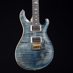 PRS Custom 24 10 Top With Flame Maple Neck Faded Whale Blue 1190