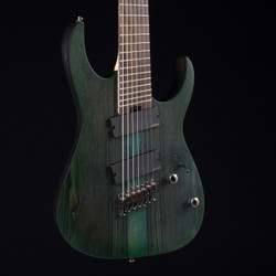 Ibanez RGIM7BC Iron Label Deep Forest Burst Flat 3311