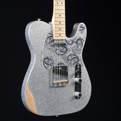 Fender Brad Paisley Road Worn Telecaster Silver Sparkle 7088