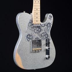 Fender Brad Paisley Road Worn Telecaster Silver Sparkle 6840