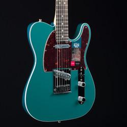Fender American Elite Telecaster Streaked Ebony Ocean Turquoise 5872
