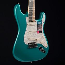 Fender American Elite Stratocaster Streaked Ebony Ocean Turquoise 5782