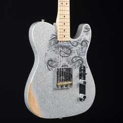 Fender Brad Paisley Road Worn Telecaster Silver Sparkle 5932
