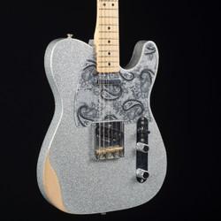Fender Brad Paisley Road Worn Telecaster Silver Sparkle 9888
