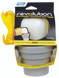 Camco Sewer Hose Connector - Revolution Elbow & 4 in 1