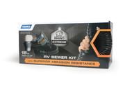 Camco RhinoEXTREME 15' Sewer Hose Kit w/SwivelFit,4N1,Elbow,Caps