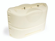 Camco Propane Tank Cover, Colonial White Fits 20# Dual Tanks