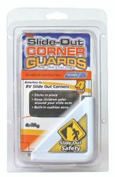Camco RV Slide Out Corner Guards, Polar White