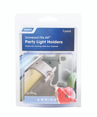Camco Party Light Holders - Fits All - Gray - 7/Pack