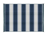 Camco Outdoor Mat, 6' x 9', Blue Stripe, w/UV