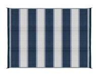 Camco Outdoor Mat, 6' x 9', Blue Stripe, w/UV
