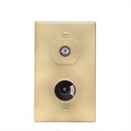 Winegard TV/12 Volt DC Receptacle - Ivory