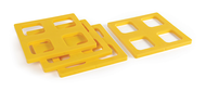 Camco FasTen Leveling Block Caps (4-Pack) Yellow