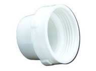 "3"" Straight Sewer Hose Adapter, Threaded"