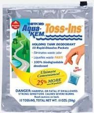 Aqua Kem Toss Ins Holding Tank Deodorizer, 12pk, Powder Fresh